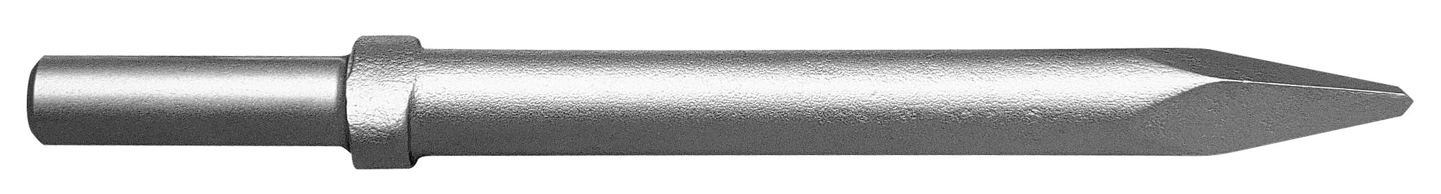 Champion Chisel, 12-Inch Long .680 Round Shank Oval Collar Chipping Hammer Moil or Bull Point
