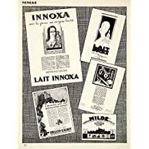 1927 Print Lait Innoxa Milk Delco-Light Charles Milde Eliane French Advertising - Original Halftone Print