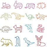 80Pcs Paper Clips for Kids Animal Shaped Paperclip Fun Paper Clips Assorted Colors Paperclip Coated Bookmark Clips…
