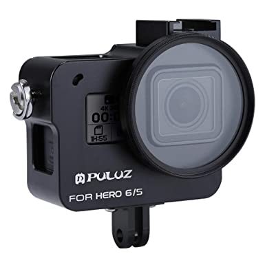 Amazon.com: Hanku🌿🌿PULUZ for GoPro Hero 6/5 CNC Aluminum ...