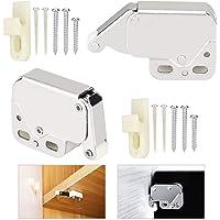 RMENOOR Mini-deurslot, 2 stuks, van ABS-kunststof, druksluiting, met automatische veersluiting voor het openen van ramen…