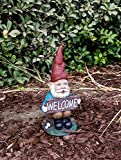 Cheap TruePower Quality Garden and Patio Decor Garden Gnome and Welcome Sign, 14″
