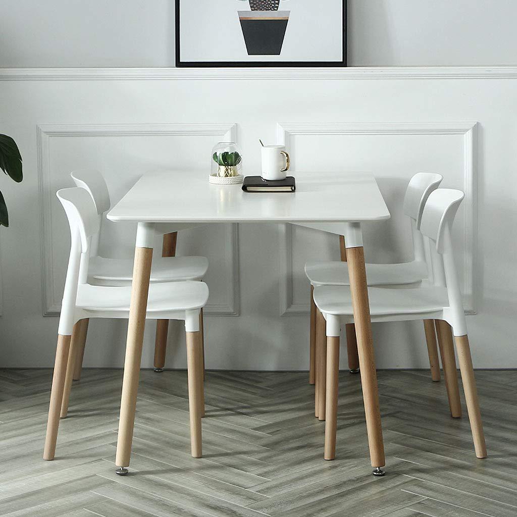 JHZY Fåtölj fritidsbord och stol matstol konferensstol ingen fåtölj plast kontor hem ryggstöd stol (färg: F) a