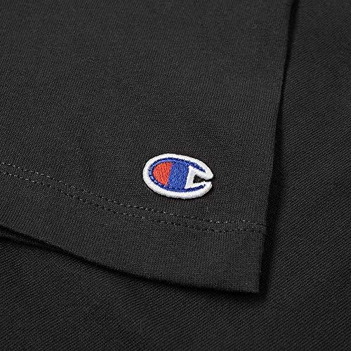 T Black Champion Donna shirt Weave Reverse qTwSZ