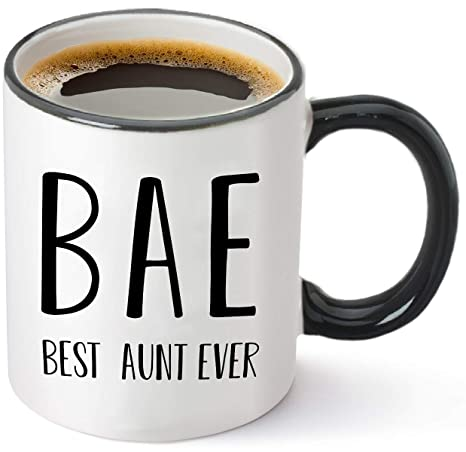 Amazoncom Bae Funny Coffee Mug Best Aunt Ever Gifts From