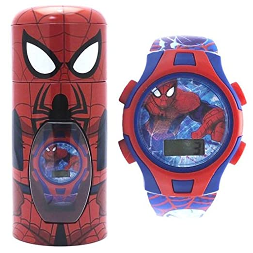 Oficial de Marvel Spiderman infantil Reloj de Muñeca Digital en lata de Character 54921: Amazon.es: Relojes