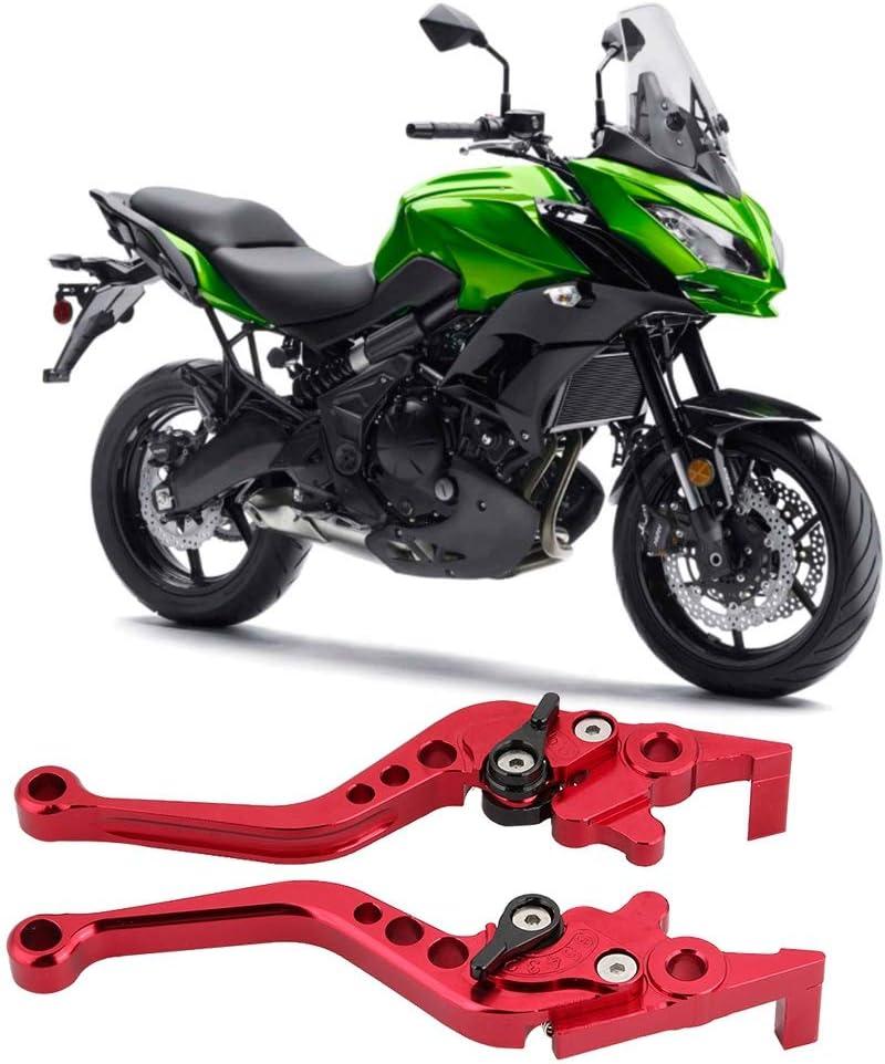 Rosso impugnature impugnatura accessorio moto in lega di alluminio Qiilu Leva freno a tamburo frizione moto