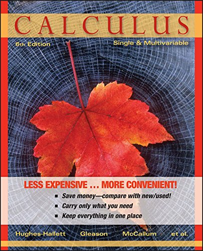 Calculus, Binder Ready Version: Single and Multivariable