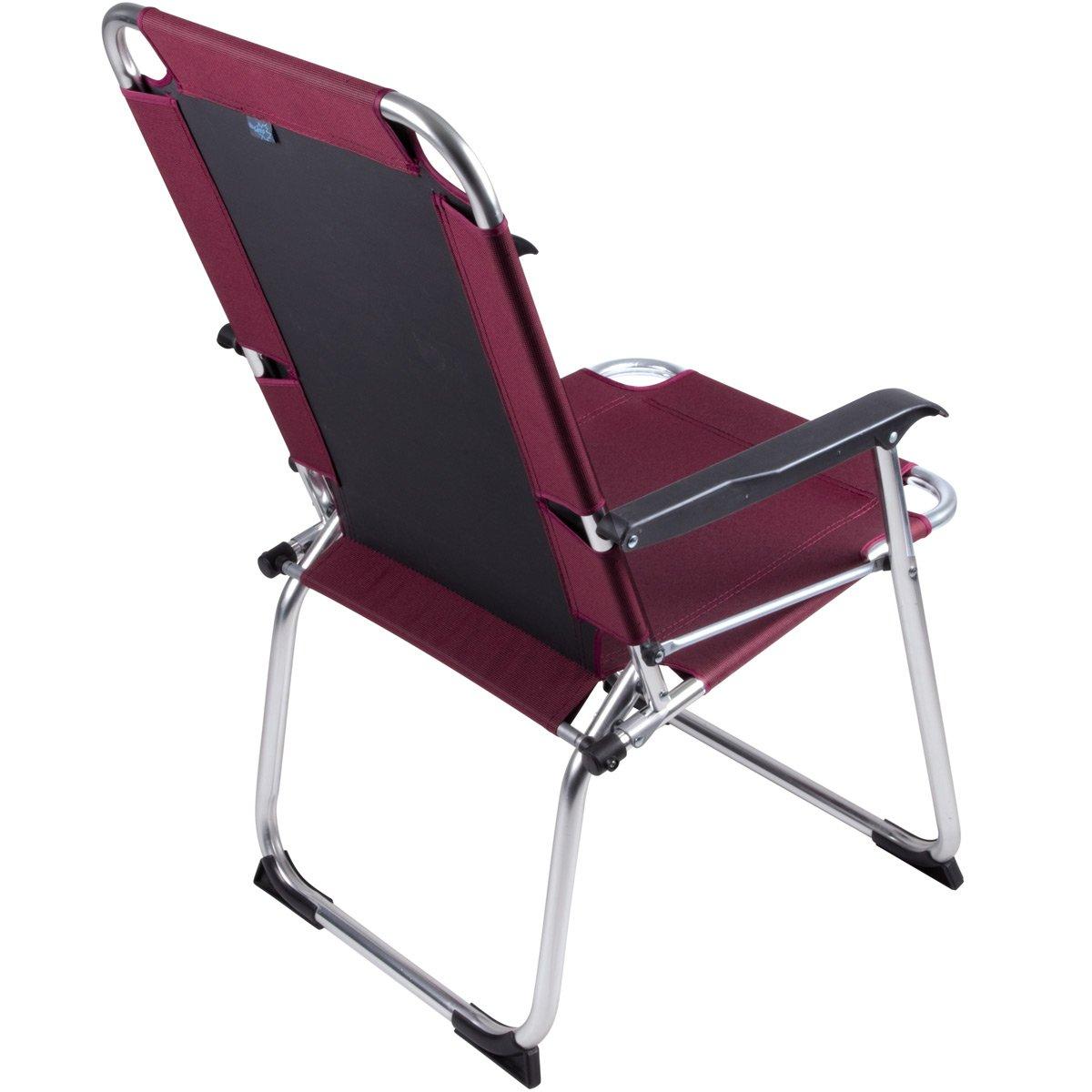 Siehe Beschreibung Camping Klapp-Stuhl Copa Rio Alu Rubin 600D-Gewebe Camping Stuhl Aluminium Klappstuhl Campingzubeh/ör Faltstuhl bis 100kg