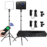 2 Packs VILTROX LED Panel Light with Stand Kit, (30W/2450Lux) Bi-Color Dimmable Studio Photography Video Lighting kit…