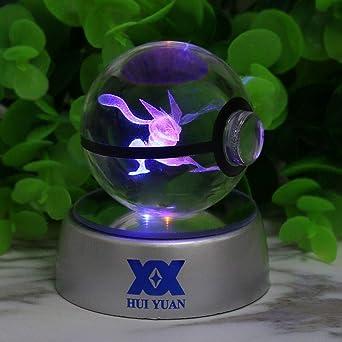 Qiong Yao TIAN Luz Nocturna Lámpara LED de bola de cristal 3D for ...