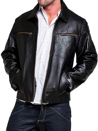 Black, Aviator Jacket Laverapelle Mens Genuine Lambskin Leather Jacket 1501587