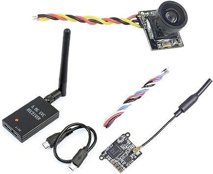 FEICHAO FE200T 40CH FPV Transmisor VTX con 199C Mini cámara UVC Receptor para Android Smartphone FPV Racing Drone: Amazon.es: Juguetes y juegos