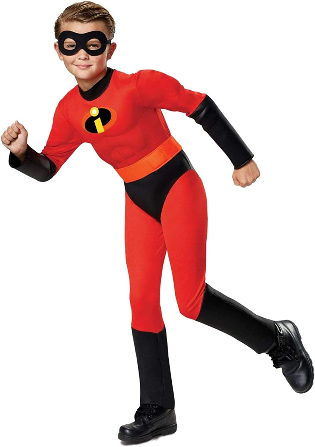 Disguise Disney Pixar Incredibles 2 Boys Size Medium 7-8 Dash Muscle Costume with Sound
