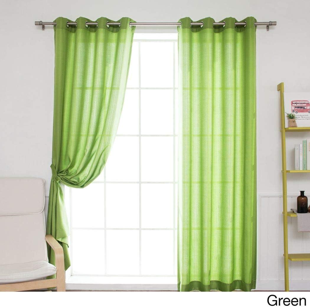 Juego de 2 cortinas de color verde, diseño de pérgola al aire libre, cubierta de porche, cabana, patio, entrada, sol, lanai, color verde, liso, patrón de colores rugby, colores al aire libre: