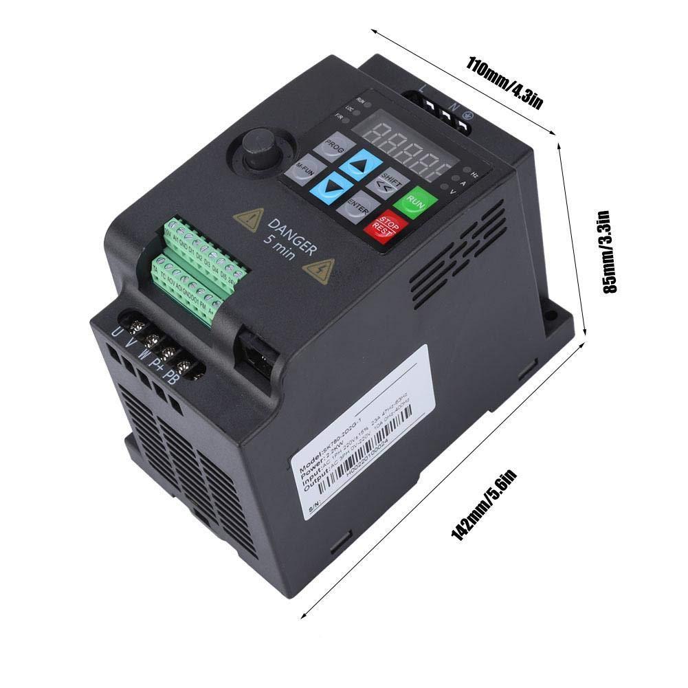 SKI780 Mini VFD 380 V Frequenzumrichter 3 Phasen-Wechselstrom Wechselrichter f/ür 3 Phasen Drehstrommotoren 380VAC 0.75kW