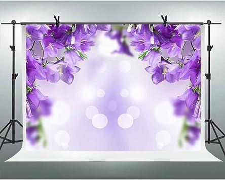 Purple Flowers Backdrops Photo Props Studio Background 5x7ft ...