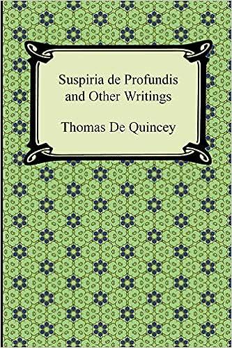 ผลการค้นหารูปภาพสำหรับ thomas de quincey books suspiria