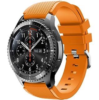 Correas para relojes Samsung Gear S3 Frontier Banda de pulsera de silicona deportiva saisiyiky (Naranja