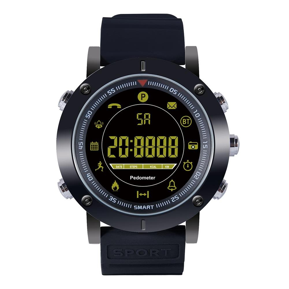 Alloet EX19 BT4.0 Outdoor Sports Smart Watch 50ATM Waterproof Wristwatch(Black)