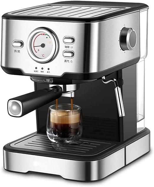 Máquina de espresso, Filtro Cafetera Espresso Steam & Pump 20 bar de presión/1.5 litros/1050 vatios/Espuma de leche de vapor para el Hogar/Oficina: Amazon.es: Hogar