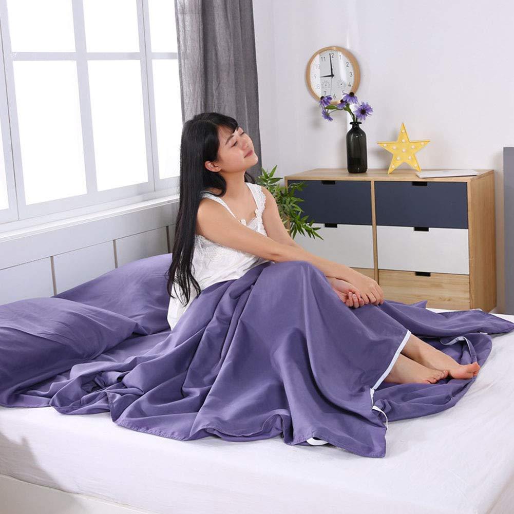 CAR SHUN Weiche Schlafsack Liner-Leichtgewicht Travel Sheet Camping Sleep Prevent Bag Prevent Sleep Dirty On Business Hotel,Blue,160 * 210cm 4b33ba