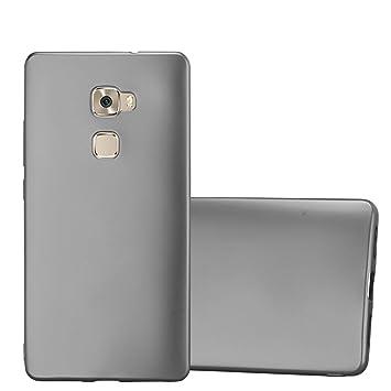 Cadorabo Funda para Huawei Mate S en Metallic Gris – Cubierta Proteccíon de Silicona TPU Delgada e Flexible con Antichoque – Gel Case Cover Carcasa ...