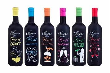 Primer año de matrimonio hitos, fundas para botella de vino ...