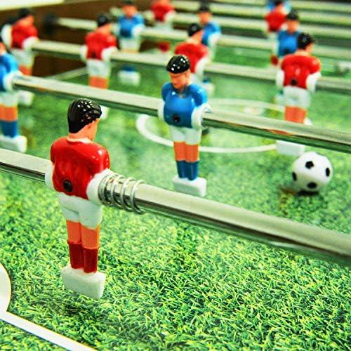 WIN.MAX WinMax FUTBOLIN con 2 Bolas, Plegable con Protección contra el Polvo, 121x61x85 Fútbol de Mesa Plegable Fútbol de Mesa: Amazon.es: Juguetes y juegos