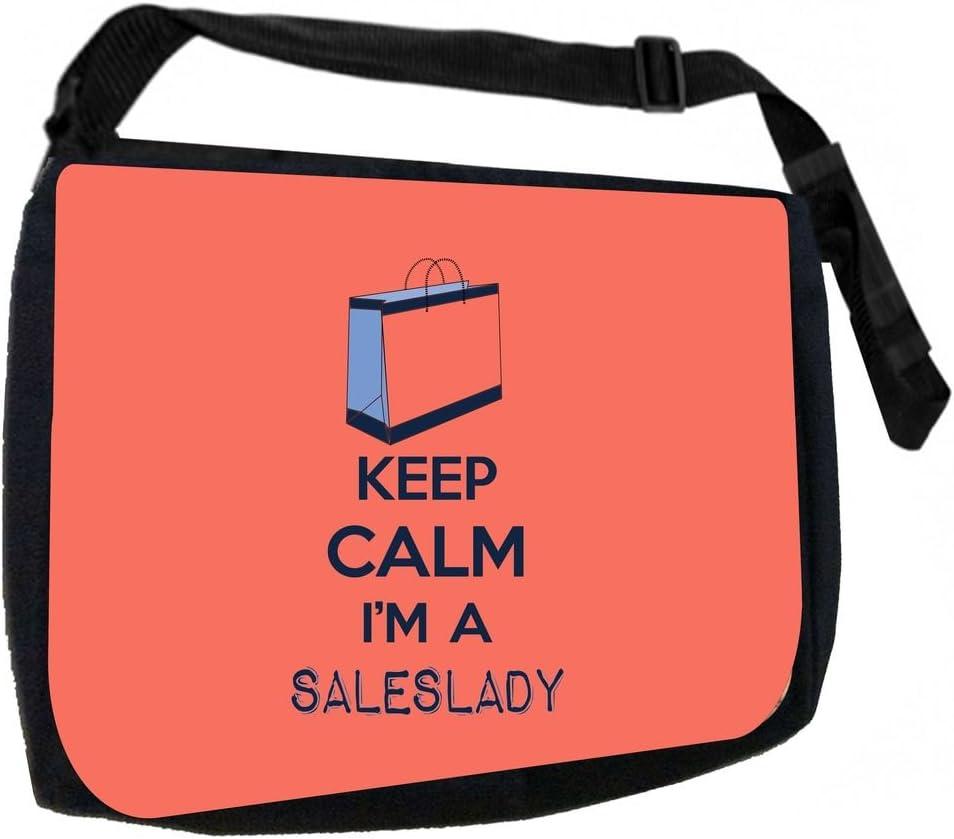 Pencil Case Set Keep Calm Im a Saleswoman School Messenger Bag