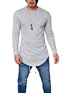 86dd0b48 Men's Long Sleeve Slim Fit Thin T-Shirt Round Neck Breathable Autumn Blouse  Tops
