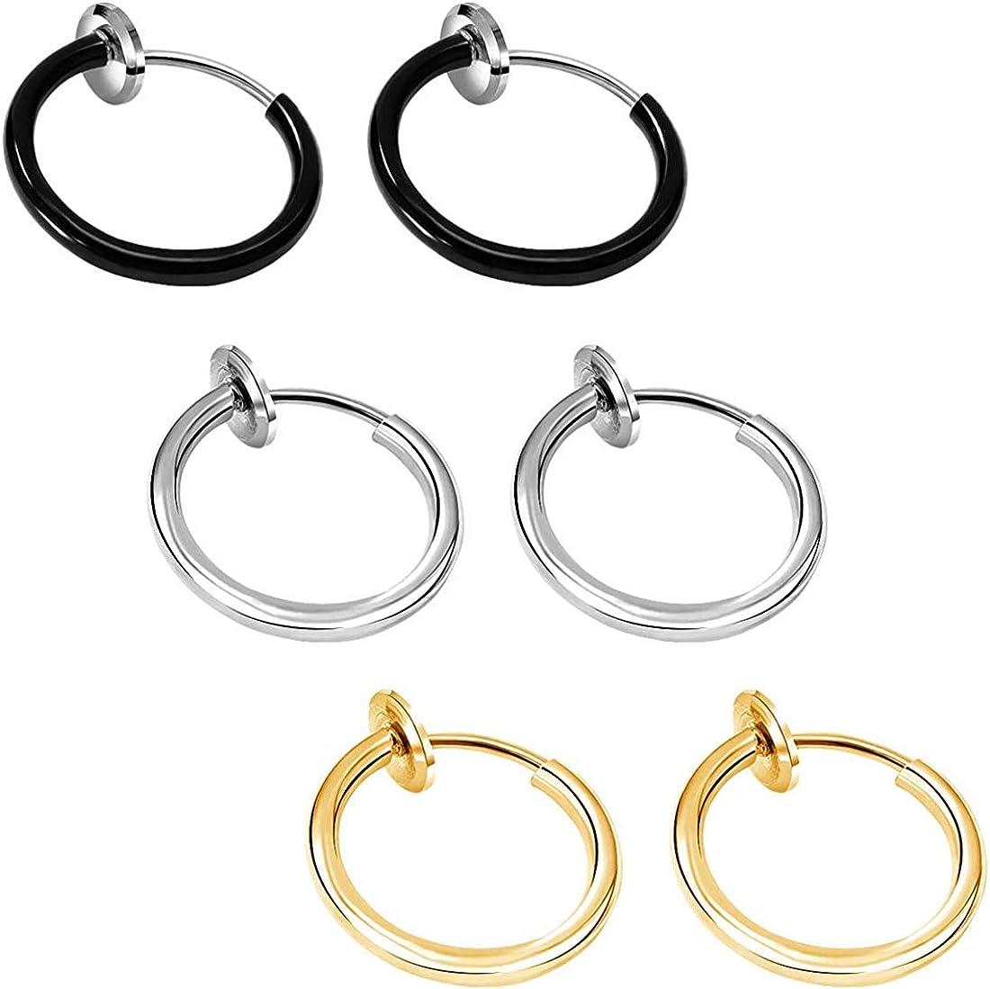 Amazon Com Cocharm Non Piercing Septum Jewelry Spring Fake Clip