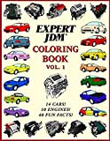 jdm fender washer kit - Expert JDM Coloring Book Vol. 1: 10 JDM Engines and 14 Japanese Car Drawings to Color!