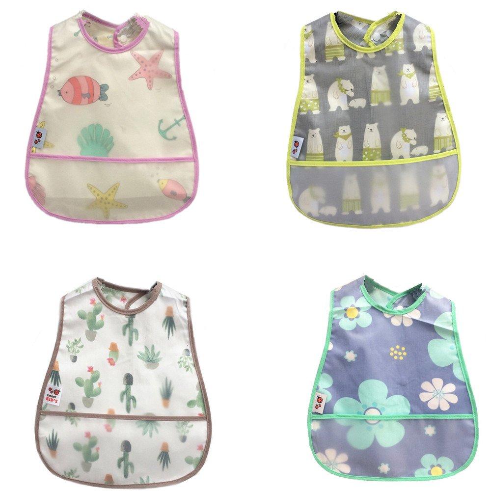 4 Pack 8-Layers bib Babyhood 100/% Cotton Baby Bibs,8 Layers Gauze Baby Bibs,360 Rotational Soft Baby Drool Bibs Breathable Bandana Bib for Drooling and Teething