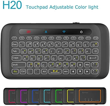 Wireless Keyboard Portable Slim 2.4Ghz Mini Wireless Keyboard Handheld with Touchpad for PC//Notebook//TV Box//Computer