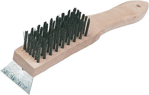 6 hileras y rasqueta Cepillo de alambre con rasqueta Silverline PB16