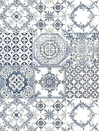 Tile Mediterrane Marokkanische Mosaik Waschbar Vinyl Fliesen Style Tapete