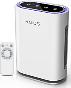KOIOS Air Purifier Large Room, 600 Sq Ft, 2021 Upgraded, True HEPA Filter, Active Charcoal, Ultraviolet Light, Ionic Air Cleaner, Odor Eliminator