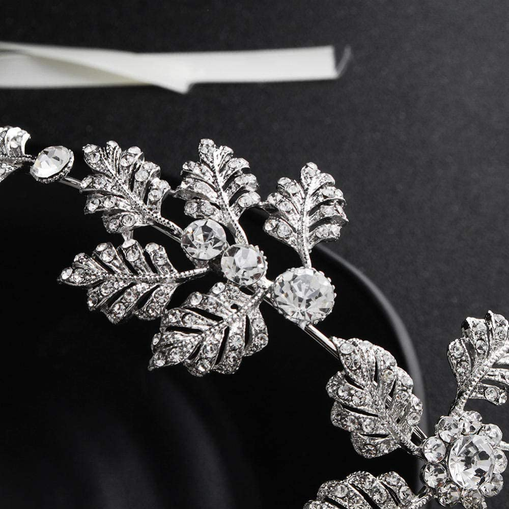 QSBR Diad/ème Mariage Bandeau Serre-t/ête Fleur Couronne de Diamants