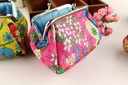 Amazon.com: Monedero retro vintage con diseño floral para ...