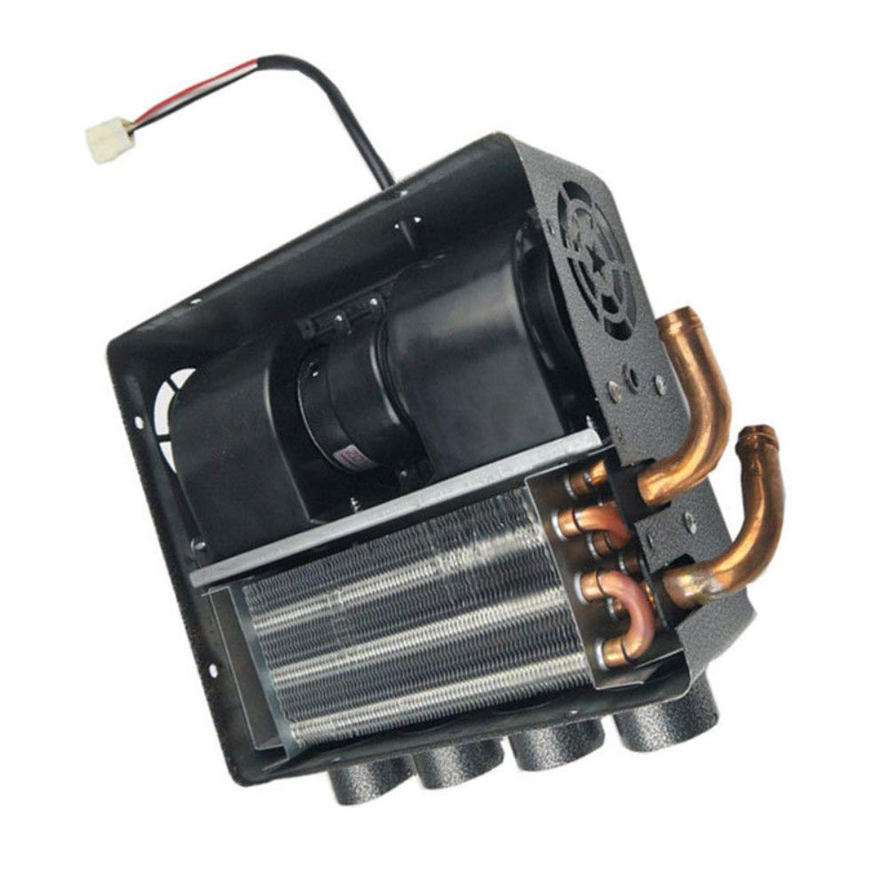 12V Auto 4 Port Underdash Compact Heater Kit 12X Copper Tube+Speed Switch Set for Truck Universal Trucks Minivans Excavators Harvesters Tricycles. Ting Ao