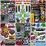 Set 6 Sheet Rockstar Energy Yamaha Kawasaki Metal Mulisha ATV Helmet Bike Motorcycle Motocross Racing Decal Sticker
