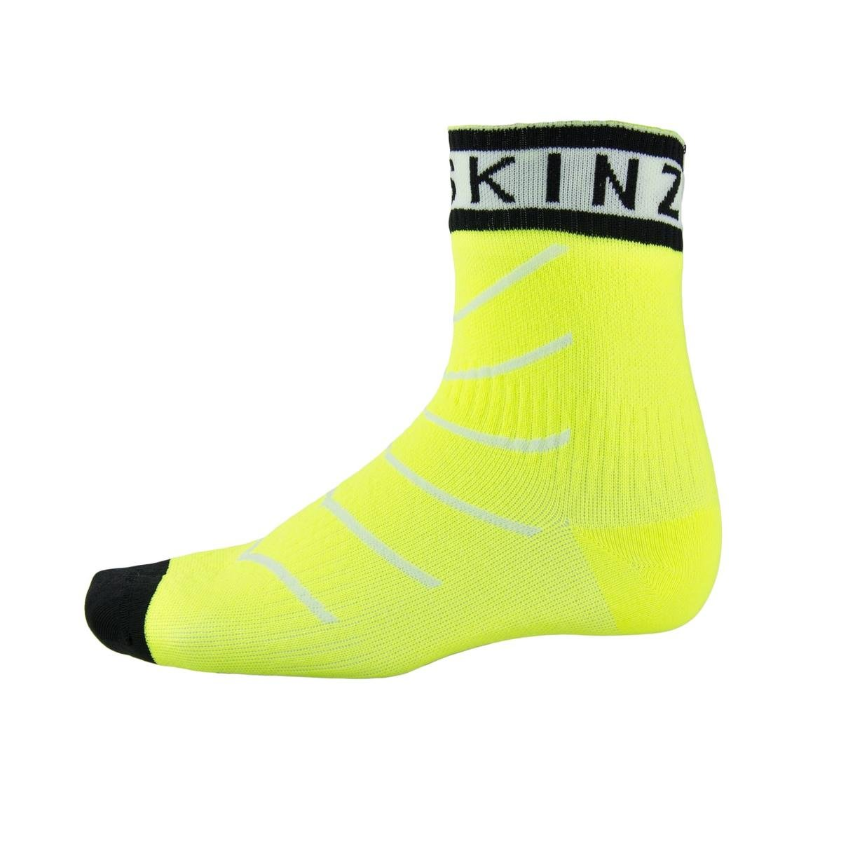 SEALSKINZ Super Thin Pro Ankle Sock with Hydrostop Neon Yellow/White/Black, M - Men's by SEALSKINZ
