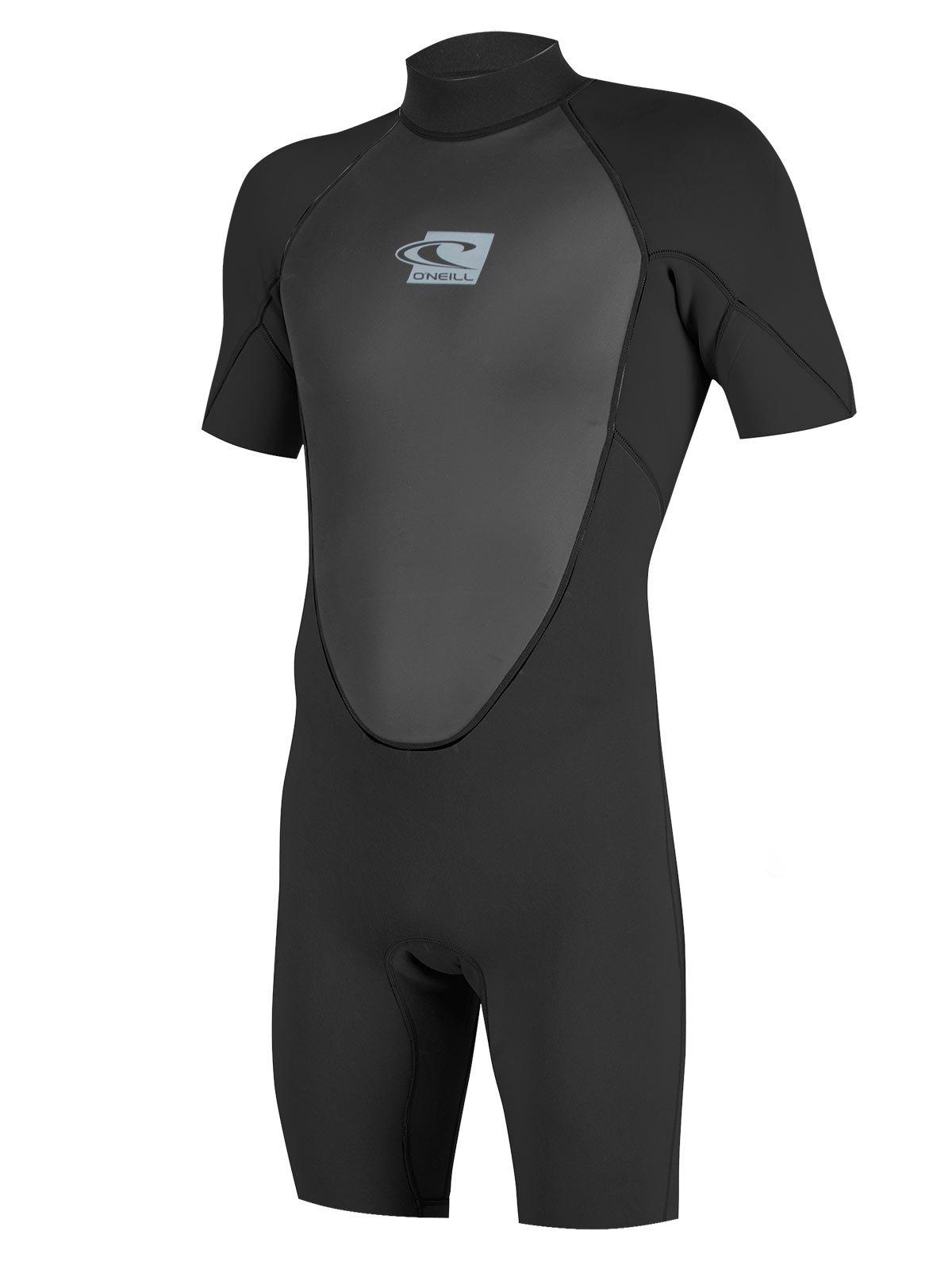 O'Neill Reactor Mens Shorty 2mm Neoprene Spring Wetsuit (All black (5124B), 4X-Large Short)