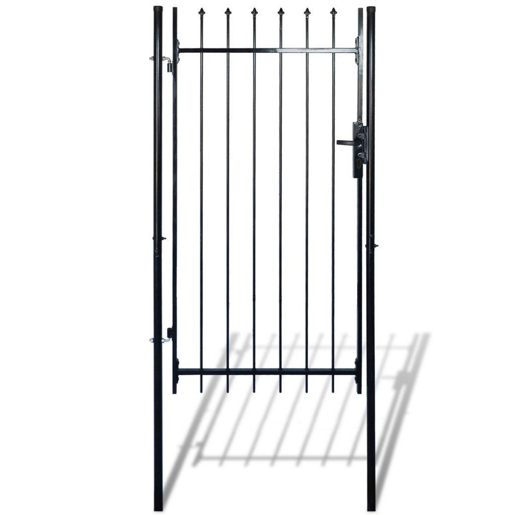 Festnight Single Door Garden Fence Gate with Spear Top, 39''W x 79''H