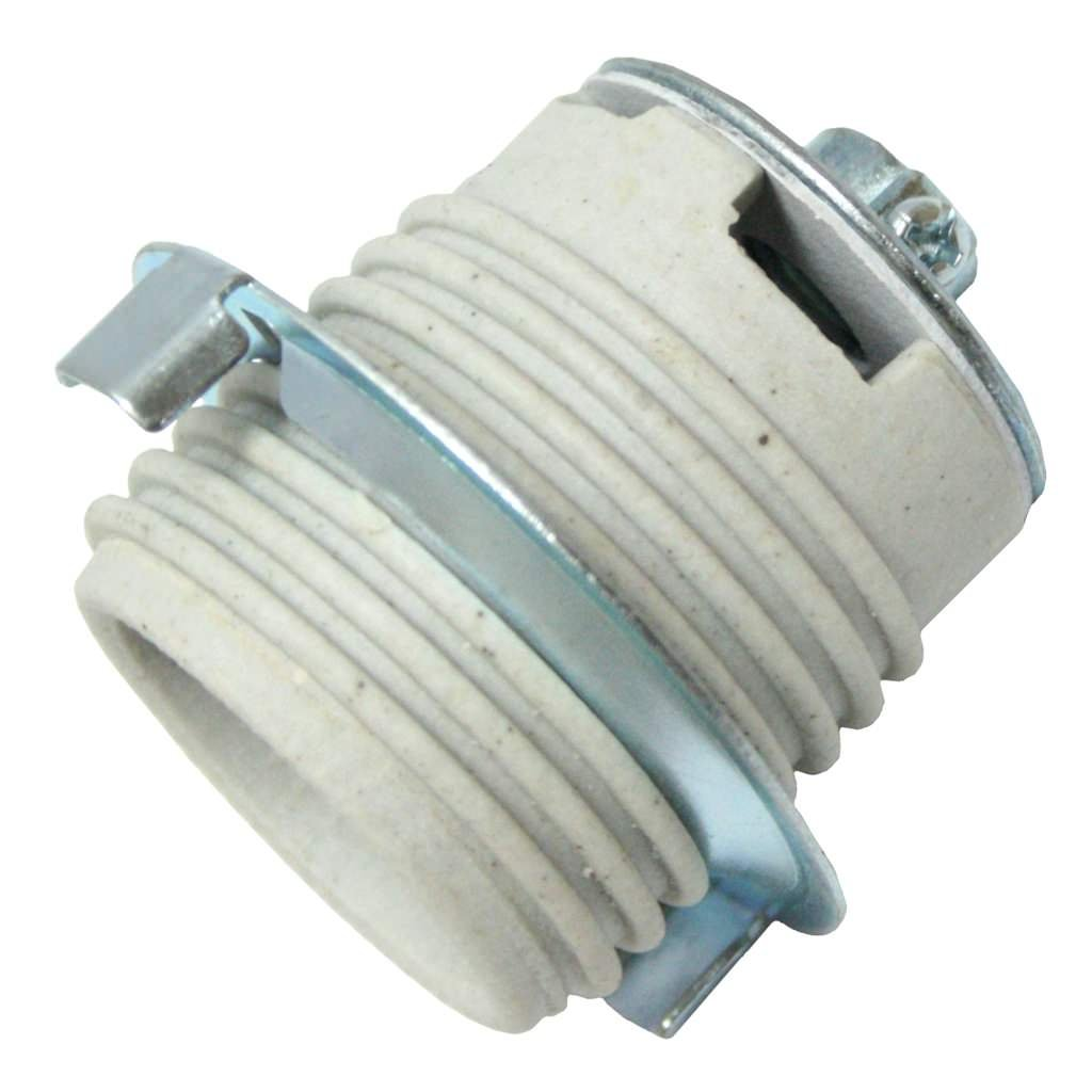 Westinghouse Lighting 2227200 Medium Base Threaded Socket With Steel Shade Ring and Set Screw 250 Volt Angelo