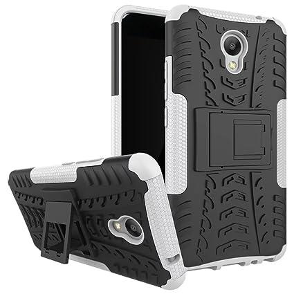 Meizu M5 note Funda, [Heavy Duty] Híbrida Rugged Armor Case Choque Absorción Protección Dual Layer Bumper Carcasa con pata de Cabra para Meizu M5 note ...