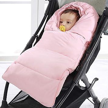 Fußsack Kinderwagen Winter Babyschale Buggy Baby Schlafsack Fusssack Tragewanne Warmer Fußsack Winterfußsack Mit Reißverschluss Rosa Baby