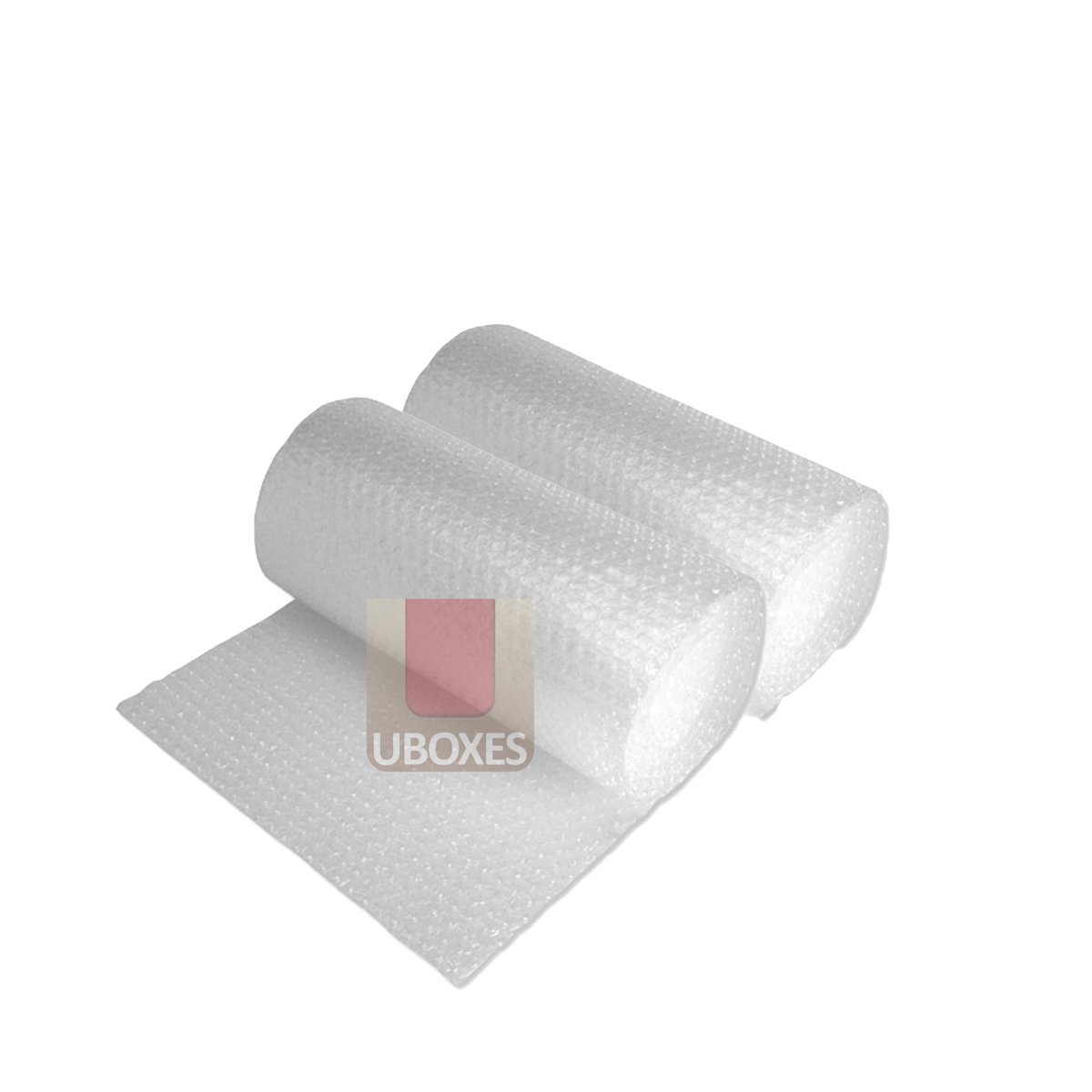 "UBOXES Bubble Cushioning Wrap Small 3/16"" Thick air Bubbles Easy Tears every 12"" (24' - 2 Rolls)"