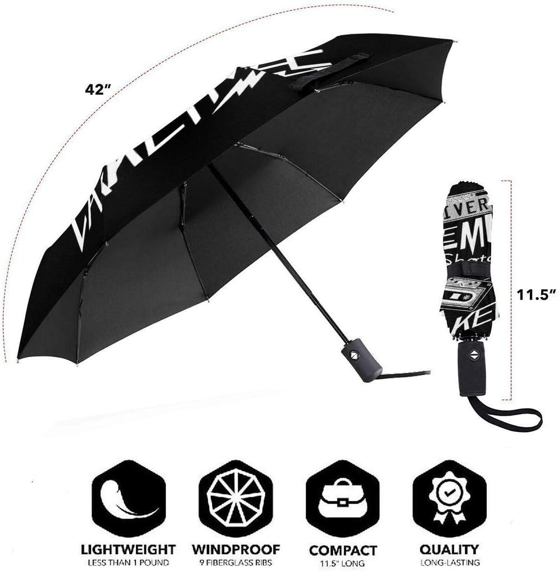 Windproof Reinforced Canopy Ergonomic Handle Auto Open//Close Multiple Colors Supernatural Driver Picks The Music Compact Travel Umbrella